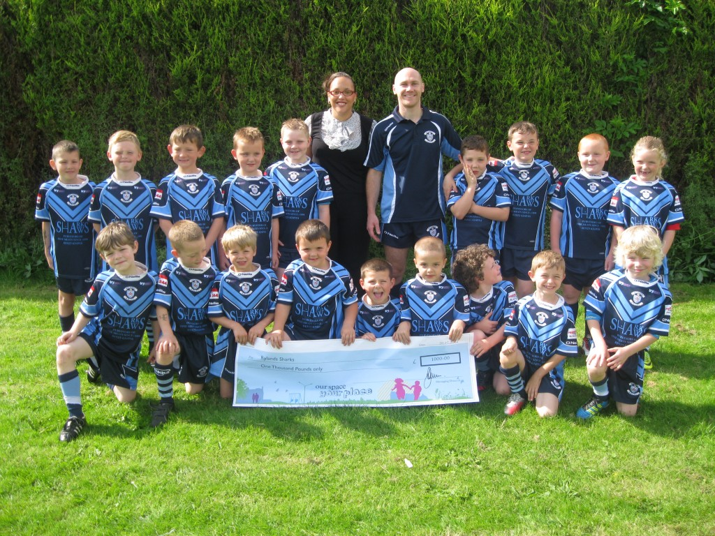 Local rugby club Rylands Sharks scores funds