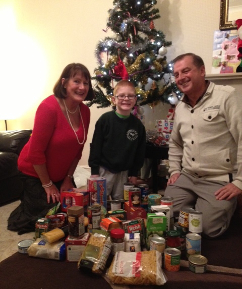 Little Ewan rallies donations for Christmas campaign