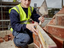 DWH David Wilson Homes site in Winnington Avenue, Northwich, CHESHIRE. Jack Kelly from Newton-le-willows he has won apprentice of the year,