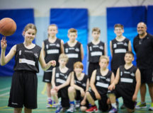 DWH David Wilson Homes sponsor local children's basketball team Bridgewater Jets Basketball Club.  Pictured  Emily Atkinson aged 12 with the team
