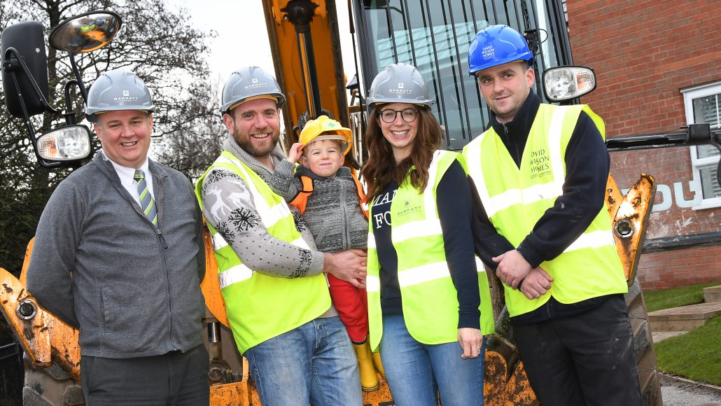 BOY, 2, DIGS PATH TO CAREER IN HOUSEBUILDING