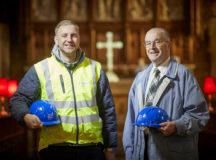 Craig Haslam  from David Wilson Homes and and Ron Rather from St Michaels Church in Preston, DWH have donated money to the church that has been used to refurbish a community hall attached to the main church